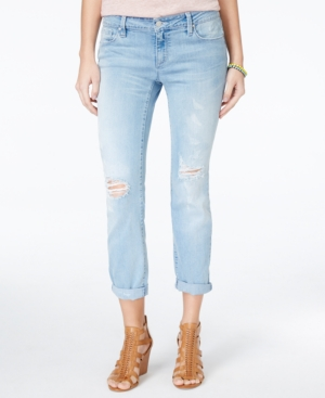 Jessica Simpson Ripped Abbey Wash Cropped Jeans