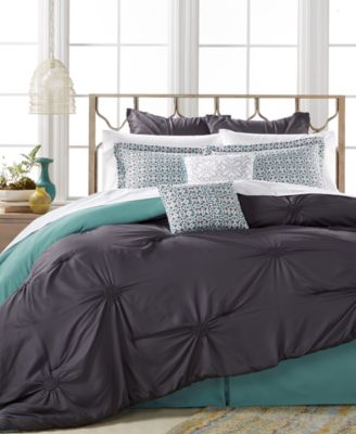 Sutton Charcoal 8-Pc. King Comforter Set