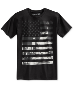 Ring of Fire Men's American Flag Graphic-Print T-Shirt, Only at Macy's