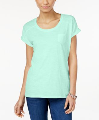 Image of Style & Co. Pocket T-Shirt, Only at Macy's