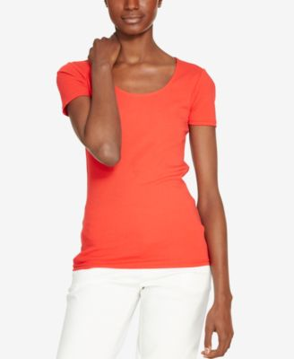 Image of Lauren Ralph Lauren Scoop Neck T-Shirt