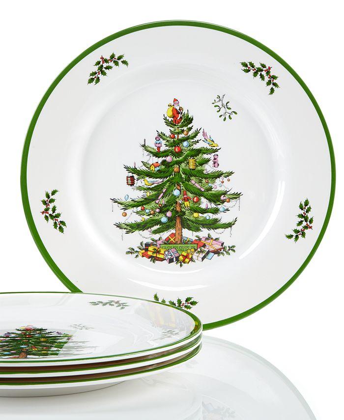 Spode - Christmas Tree Set/4 Melamine Dinner Plate
