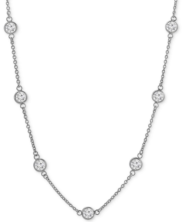 Giani Bernini - Cubic Zirconia Bezel-Set Statement Necklace in 18k Gold-Plated Sterling Silver