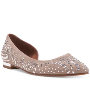 Donald J Pliner Perries Embellished d'Orsay Flats Women's Shoes