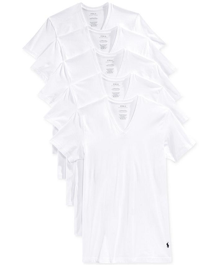 Polo Ralph Lauren - Men's Slim-Fit Classic Cotton V-Neck T-Shirt 3-Pack