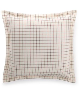 Martha Stewart Collection Appleton Plaid Flannel European Sham, Only at Macy's