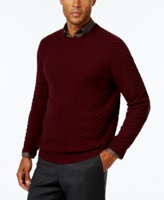 Image of Tasso Elba Men's Chevron Sweater, Only at Macy's