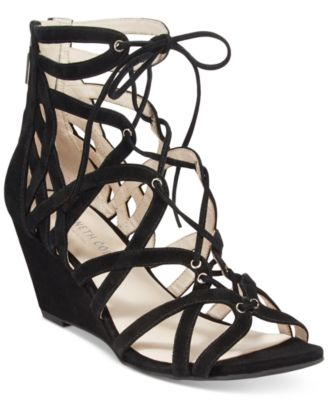 Dylan Lace-Up Wedge Sandals