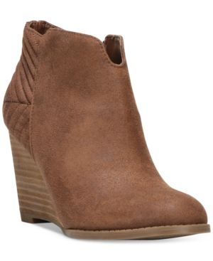 Carlos By Carlos Santana Camira Wedge Block-Heel Booties Women's Shoes