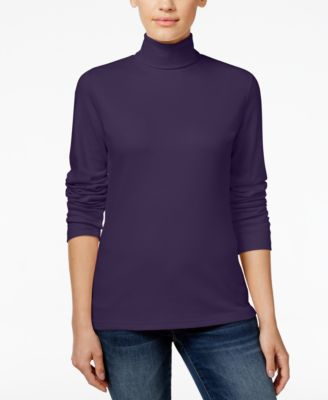 Image of Karen Scott Long-Sleeve Turtleneck, Only at Macy's