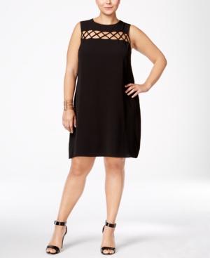 Monteau Trendy Plus Size Cutout Shift Dress
