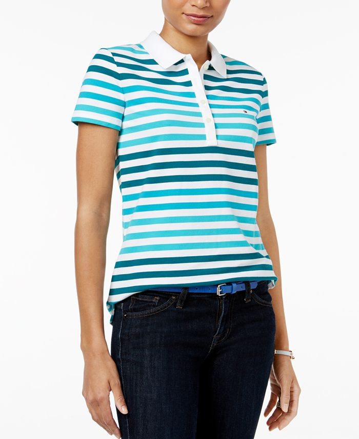 Tommy Hilfiger - Sarah Striped Polo Top