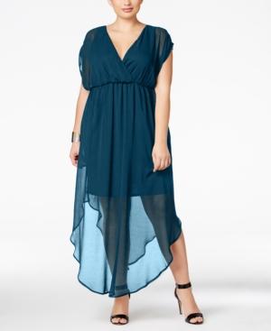 Love Squared Trendy Plus Size Chiffon Illusion Maxi Dress