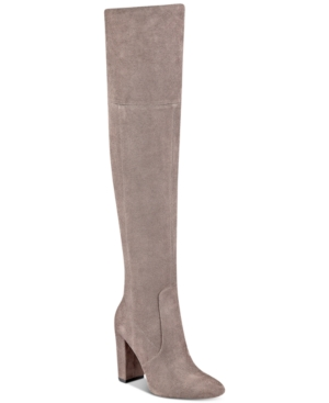 Ivanka Trump Rylee Block-Heel Over-The-Knee Boots Women's Shoes