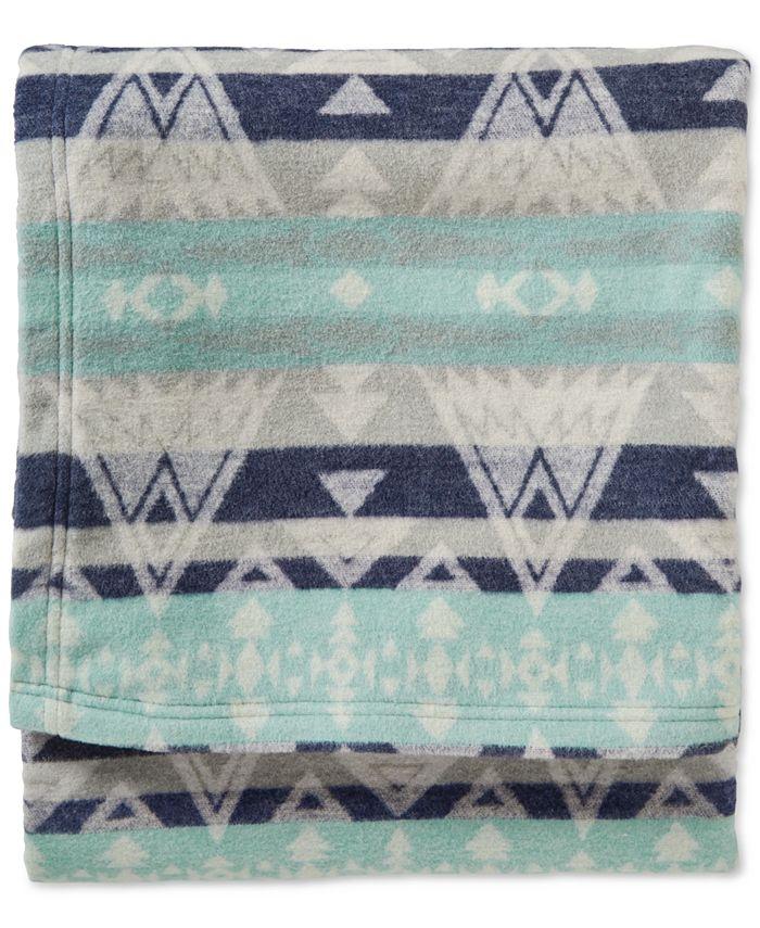 Pendleton - Cotton Jacquard High Peaks Queen Blanket