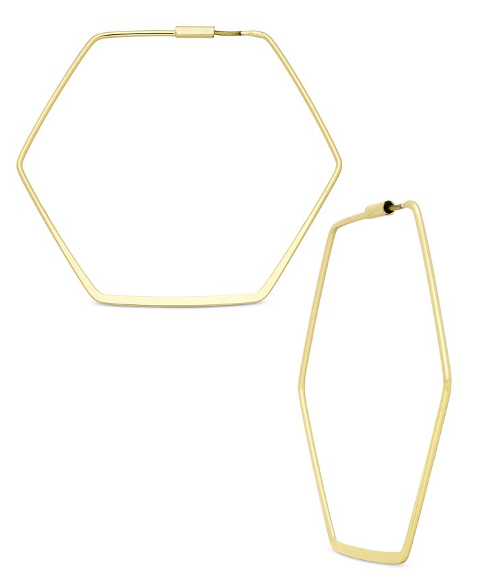 ABS by Allen Schwartz - Hexagon Hoop Earrings