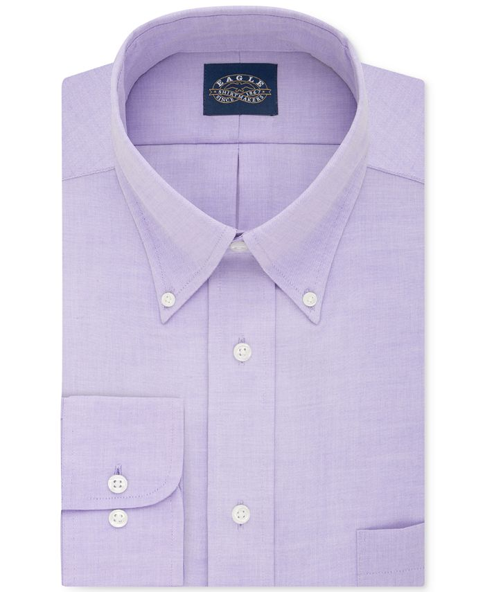 Eagle - Men's Classic-Fit Non-Iron Solid Dress Shirt