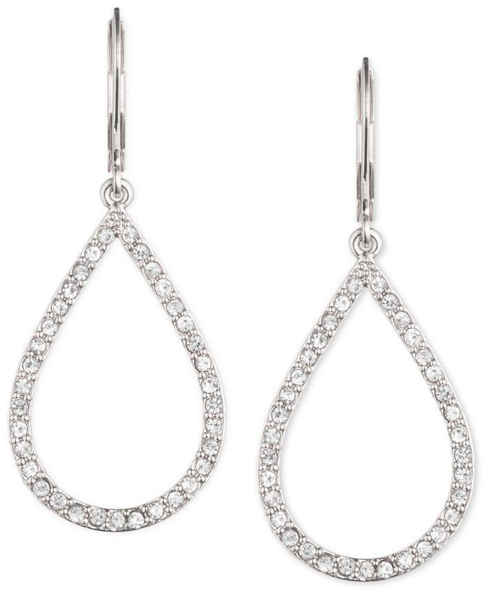 Anne Klein - Pavé Crystal Teardrop Earrings