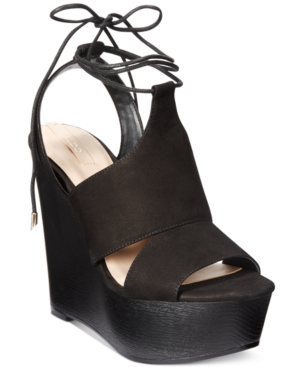 Aldo Women's Gwyni Platform Wedge Tie-Up Sandals