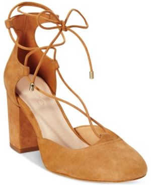 Aldo Women's Franceska Lace-Up Block-Heel Pumps