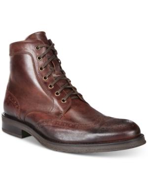Kenneth Cole Reaction Men's Brace Wingtip Boots Men's Shoes