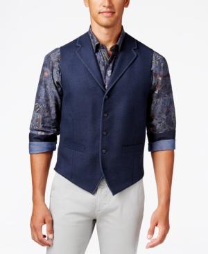 Men's Vintage Inspired Vests Tallia Mens Navy Vest $125.00 AT vintagedancer.com