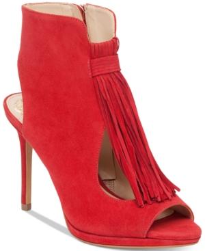 Vince Camuto Abigalla Fringe Peep-Toe Pumps Women's Shoes