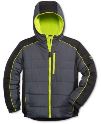 Image of Protection System Boys' Zip-Up Hooded Bubble Jacket