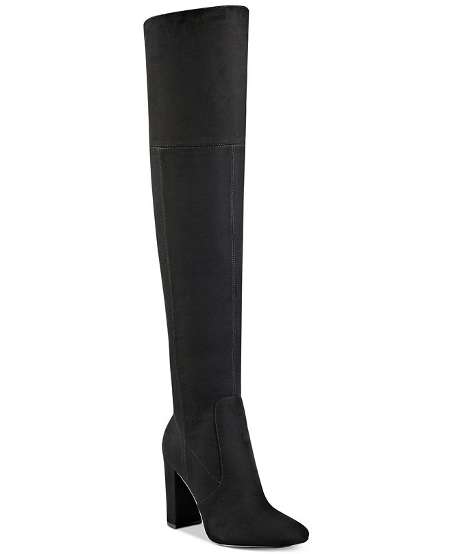 Ivanka Trump Rylee Block-Heel Over-The-Knee Boots