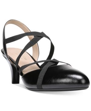 Naturalizer Dasha Strappy Kitten-Heel Slingback Pumps Women's Shoes
