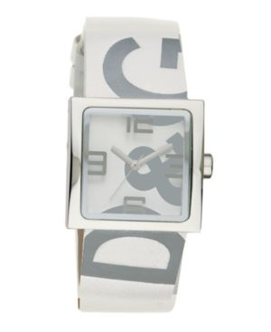 D&G Watch, Women's Andy White Leather Strap DW0036