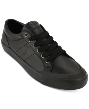 Polo Men's Ian Leather Lace-Up Sneakers Men's Shoes