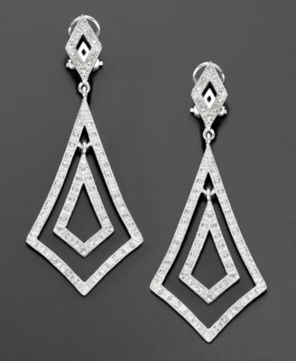 Sterling Silver Diamond Earrings (3/8 ct. t.w.)