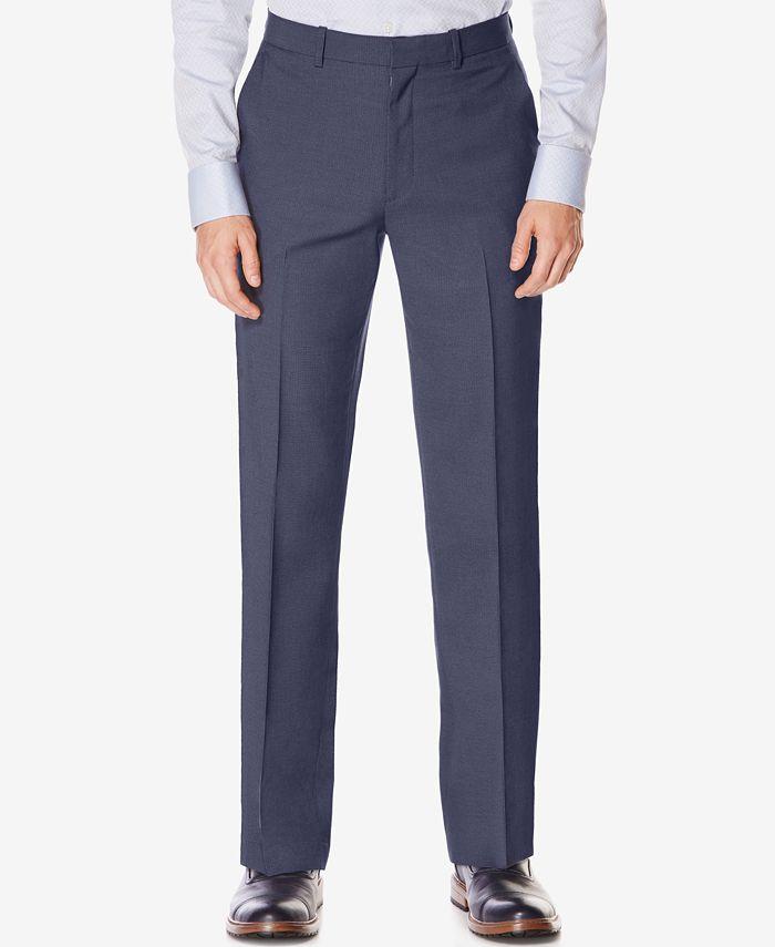 Perry Ellis Portfolio - Men's Classic-Fit Non-Iron Performance Nailhead Dress Pants