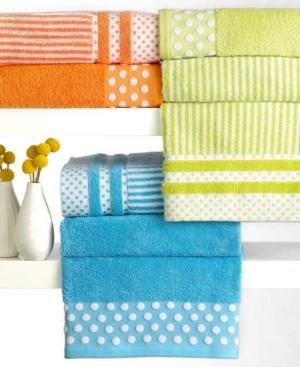 "bianca dots and stripes wash towel, 13"" x 13"""