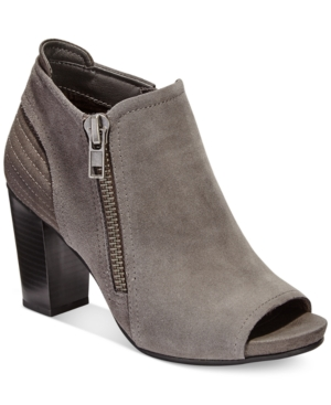White Mountain Daytona Peep-Toe Booties Women's Shoes