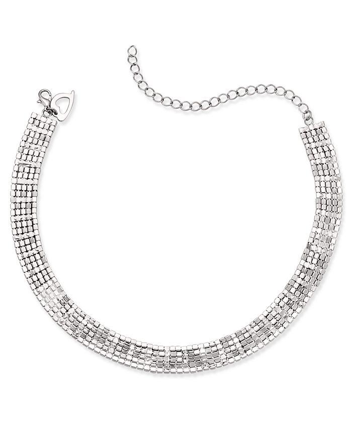 Thalia Sodi - Silver-Tone Rhinestone Choker Necklace