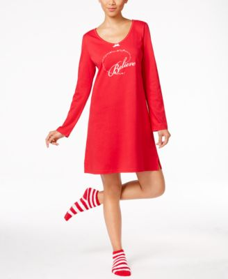 Image of Charter Club Knit Sleepshirt and Socks Set, Only at Macy's
