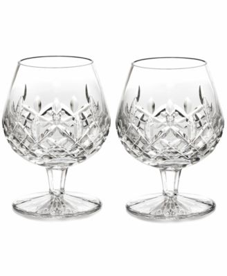Waterford Stemware, Lismore Brandy Glasses, Set of 2