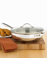 Macy's - Tools of the Trade Stainless Steel Deep Skillet - $15.99