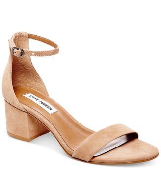 Irenee Two-Piece Block-Heel Sandals