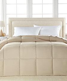 Lightweight Microfiber Color Down Alternative Twin Comforter, Hypoallergenic Polyester Fiberfill