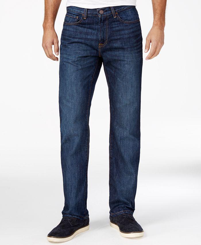 Tommy Hilfiger - Men's Drake Relaxed-Fit Dark Blue Wash Jeans