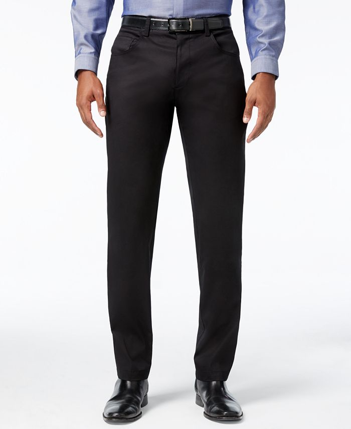 INC International Concepts - Men's Deep Black Stretch Pants