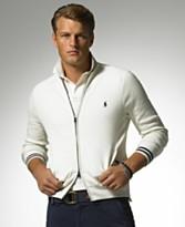 Polo Ralph Lauren Bleecker Nautical Mock Neck Zip Front Sweater