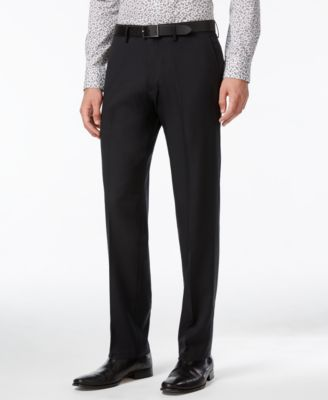 Image of Kenneth Cole Reaction Straight-Fit Stretch Gaberdine Solid Dress Pants