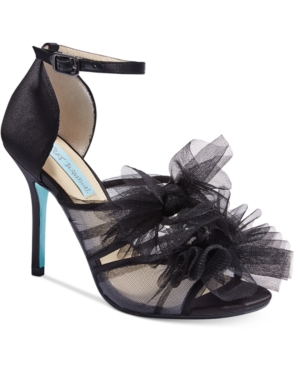 Blue by Betsey Johnson Big Tulle Dress Sandals Women's Shoes