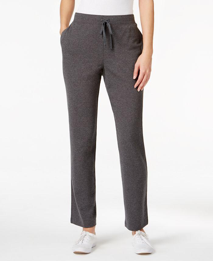 Karen Scott - Straight-Leg Pull-On Pants