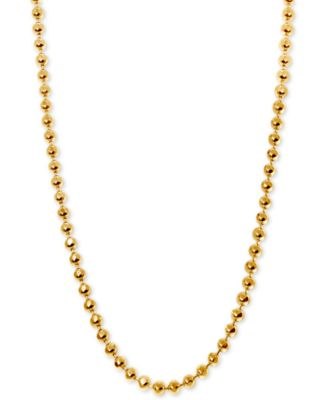 """Beaded 18"""" Chain Necklace in 14k Gold"""