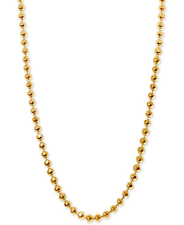Alex Woo - Beaded Chain Collar Necklace in 14k Gold